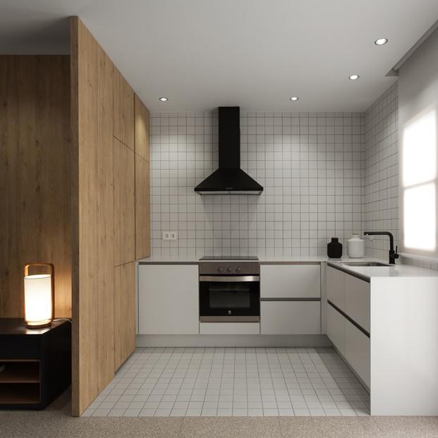 cocina de apartamento en santa pola en playa Varadero de Manuel Garcia estudio diariodesign