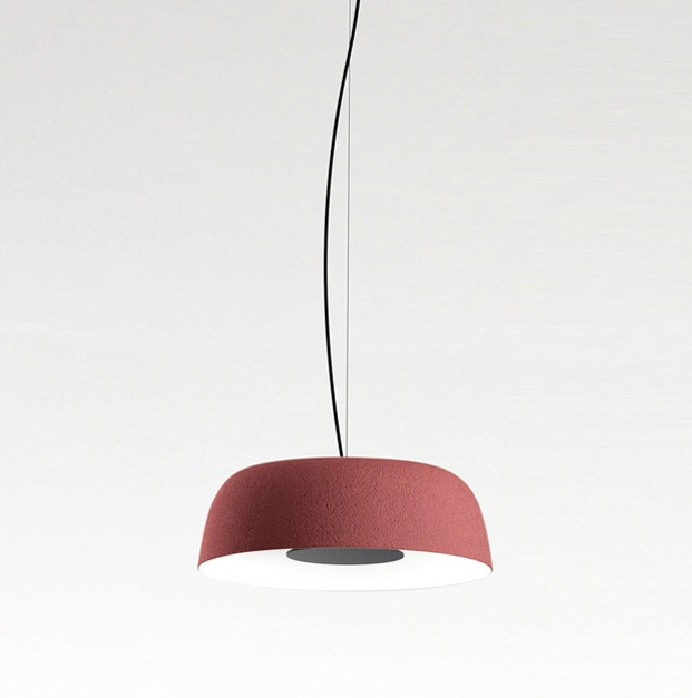 lampara de techo roja djembé marset joan gaspar diariodesign