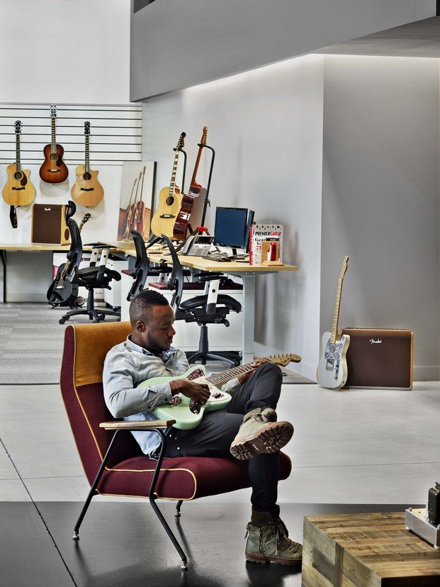 oficinas fender de rapt studio en los angeles diariodesign