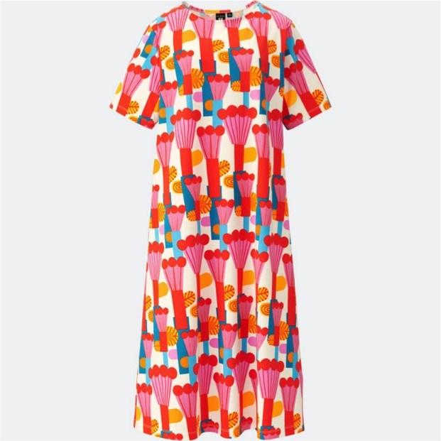 coleccion de marimekko y moda uniqlo vestido diariodesign