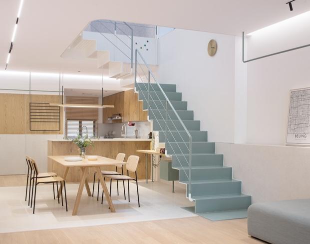 A white house a growing home casa en shanghai cocina abierta diariodesign