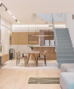 casa en Shanghai white house growing home RIGI Design salon comedor cocina diariodesign