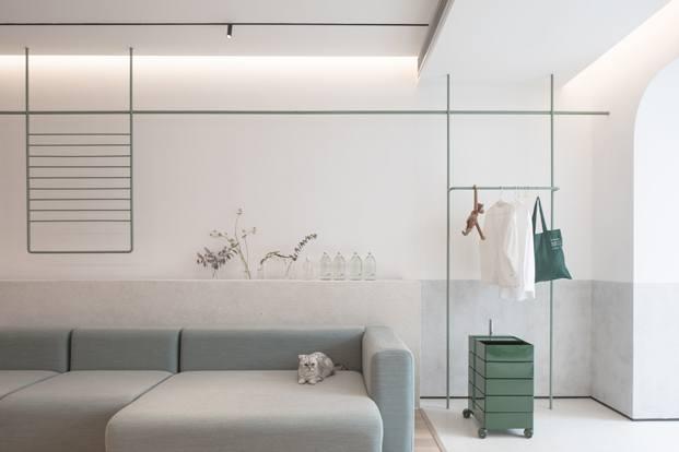 A white house a growing home casa en shanghai salon diariodesign