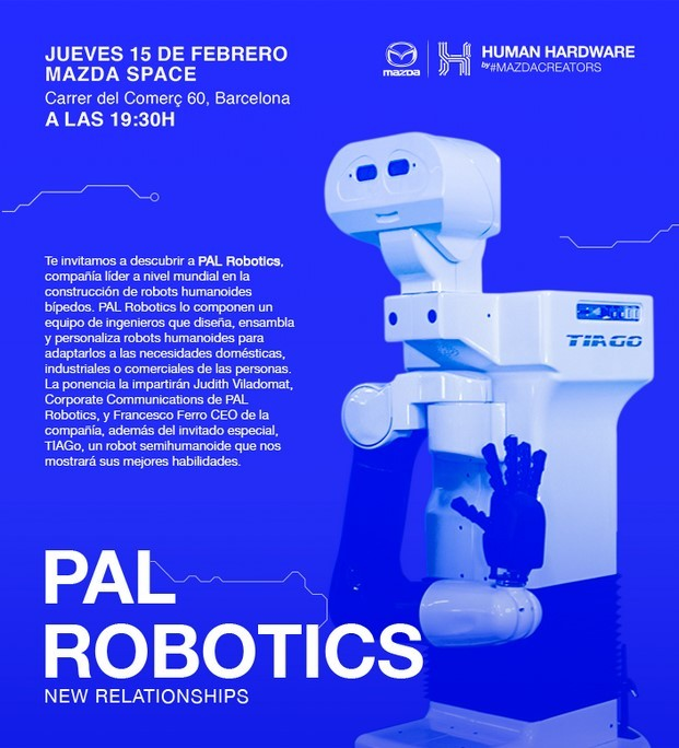 pal robotics robots en mazda space del born de barcelona diariodesign