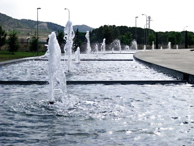 Actiu Parque Tecnologico jardin fuente diariodesign