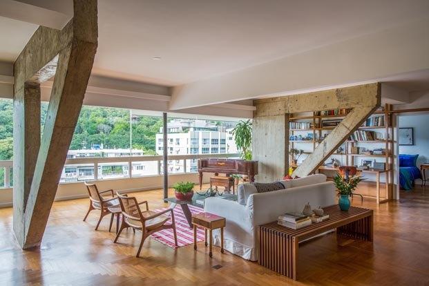 Apartamento Varanda en río de janeiro del Estudio Chao salon con estructura hormigon diariodesign