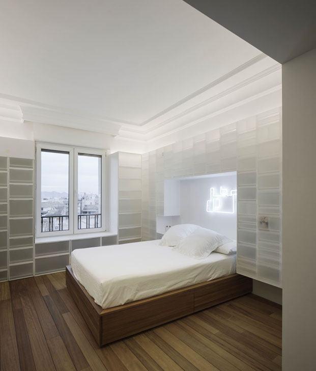 Casa en granada con cajas polipropileno interiorismo de Serrano Vaquero dormitorio diariodesign