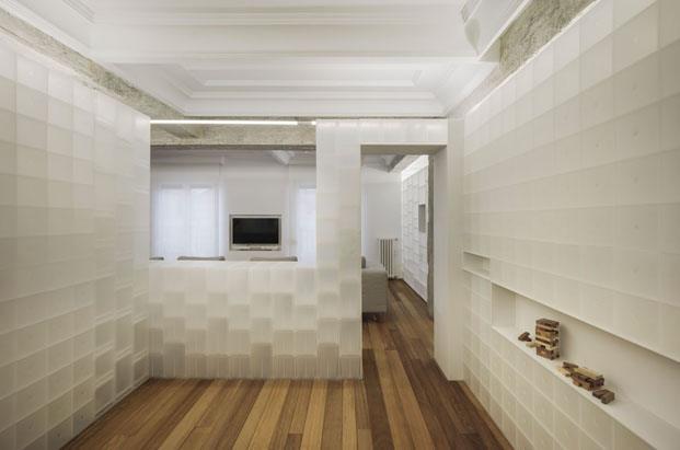 Casa en granada con cajas polipropileno de muji interiorismo de Serrano Vaquero cocina diariodesign