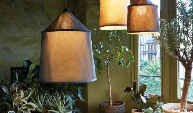 jaima de Marset lampara de suspension con textilene collection ambiente diariodesign