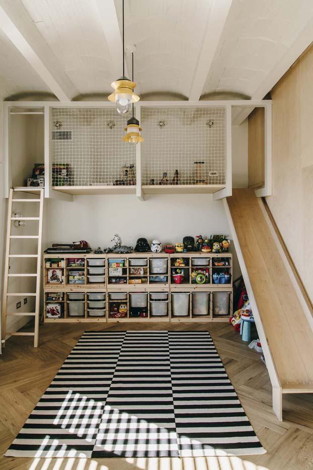 habitación infantil de una vivienda en barcelona diariodesign