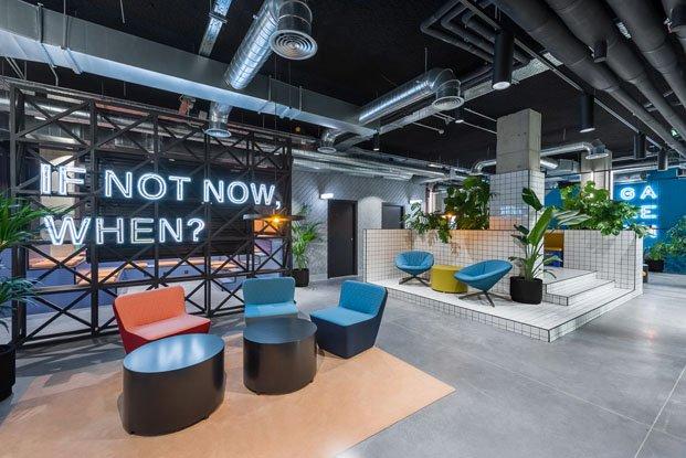 The Student Hotel Campus en Barcelona reforma de Masquespacio de estetica industrial diariodesign