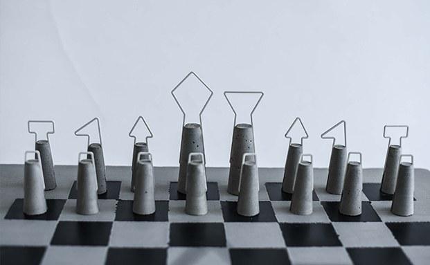 ajedrez de hierro y hormigon Fortify de daniel Skotak diariodesign