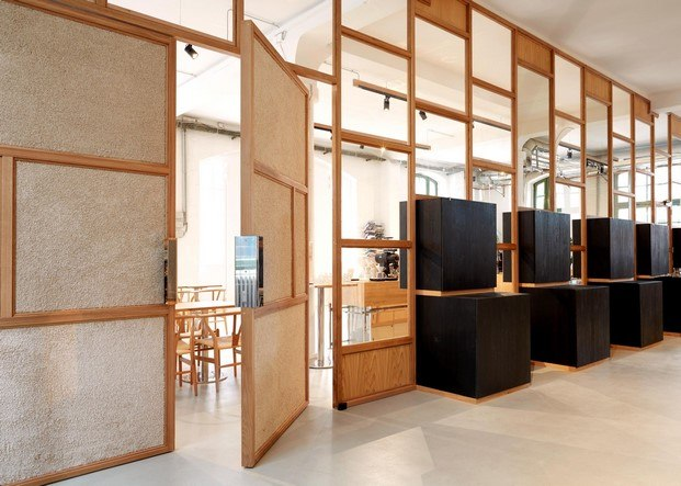 bonanza cafe berlin biombo madera diariodesign
