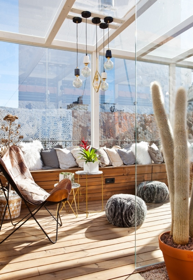 casa decor 2018 desert city cactus terraza diariodesign