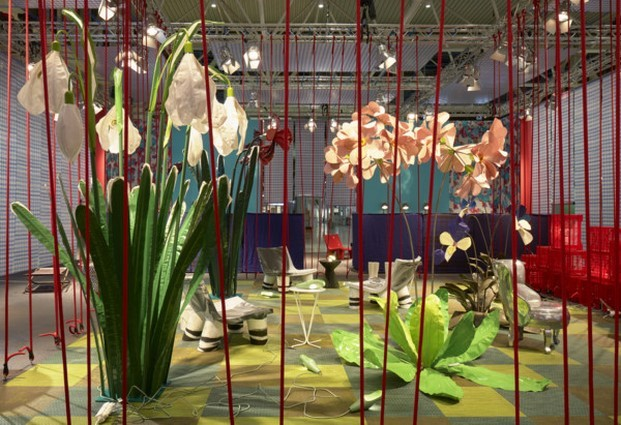 casa imaginada de paola navone en feria estocolmo flores fieltro diariodesign