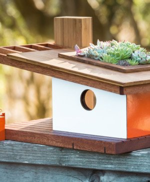 casas para pájaros de estilo mid century de Sourgrassbuilt diariodesign