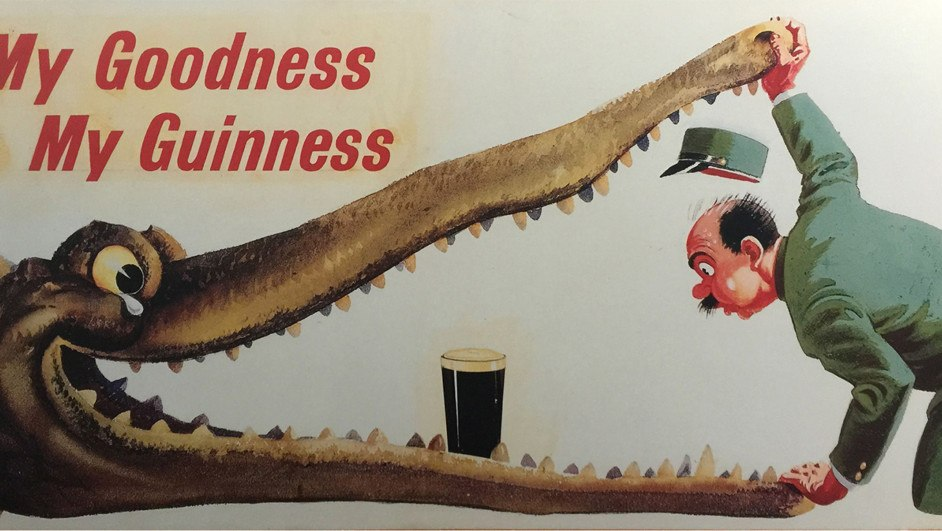 guinness cerveza gilroy publicidad cocodrilo diariodesign