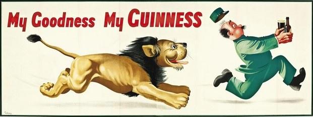 cartel publicitario cerveza guinness gilroy leon diariodesign
