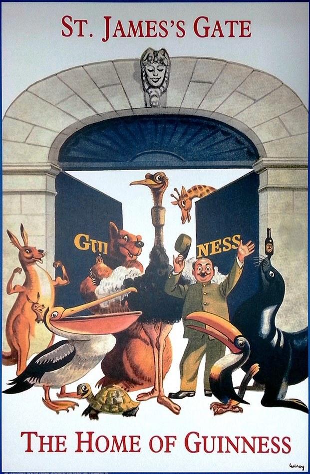 guinness gilroy cartel publicitario zoo diariodesign