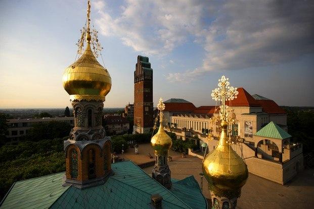 Iglesia Ortodoxa Rusa de Santa María Magdalena Pioneros del diseño la colonia de artistas de Darmstadt