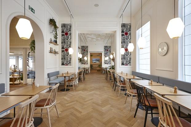 Hygge Hotel en Bruselas interiorismo de michel Penneman restaurante diariodesign