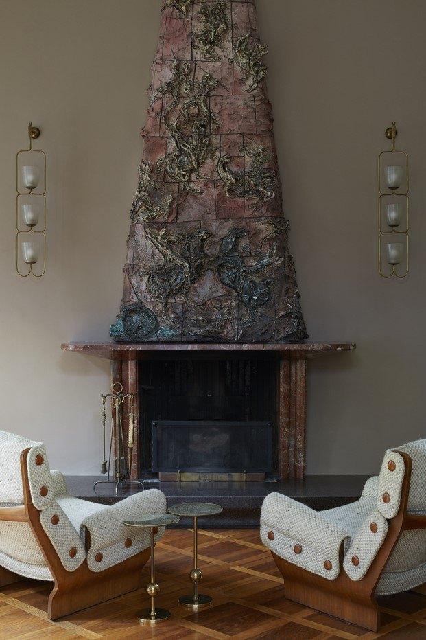 chimenea villa borsani lucio fontana diariodesign