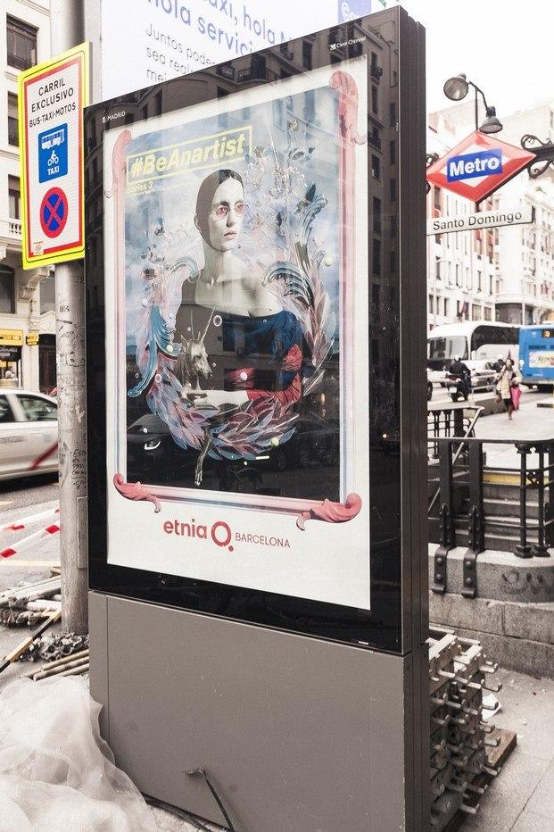 opis con publicidad de etnia barcelona campana be an artist diariodesign