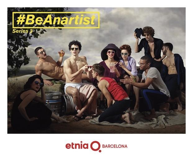 campana publicitaria be an artist de etnia barcelona Los borrachos de Velázquez diariodesign