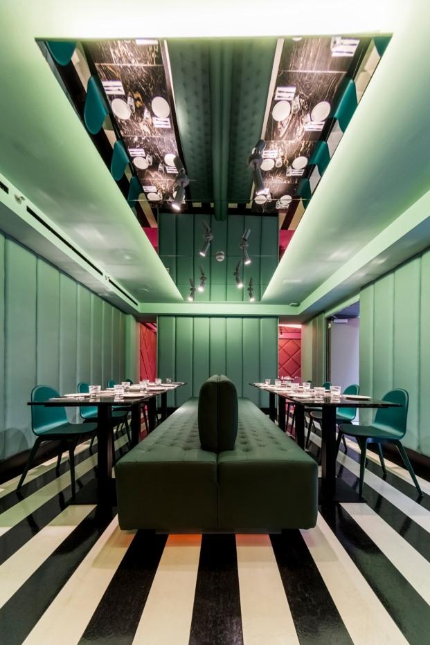 hotel axel madrid comedor verde diariodesing