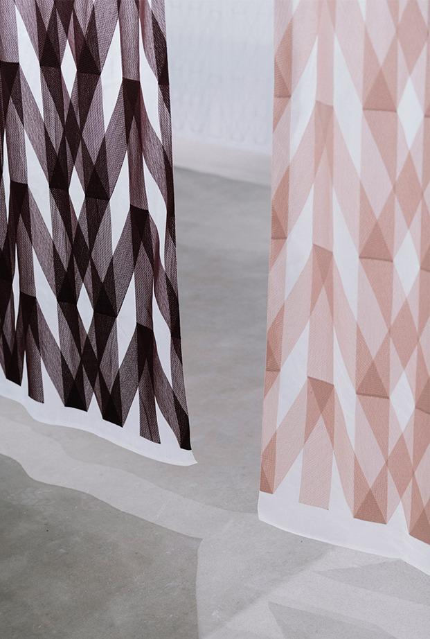 cortinas Rennes kvadrat de ronan y erwan bouroullec geometría luz color diariodesign