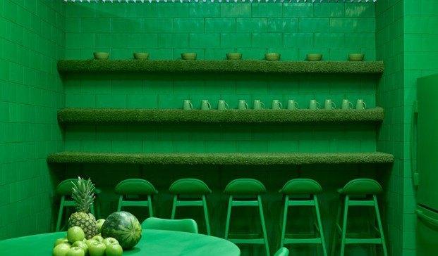 monochrome proyecto en Brooklyn verde diariodesign