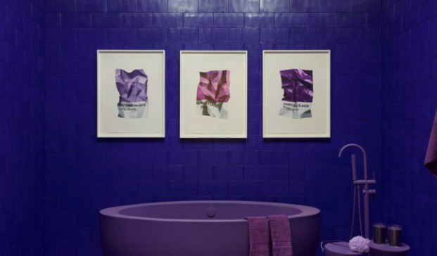 monochrome proyecto en Brooklyn purpura y rosa diariodesign