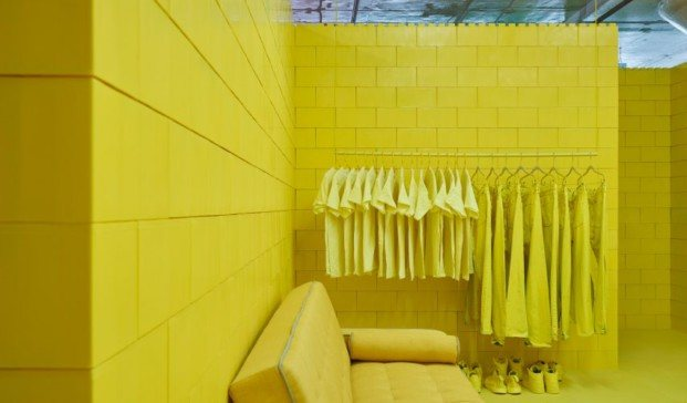 monochrome proyecto en Brooklyn amarillo diariodesign