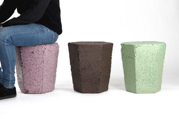 taburetes reciclados roca recicla andreu carulla poliestireno diariodesign