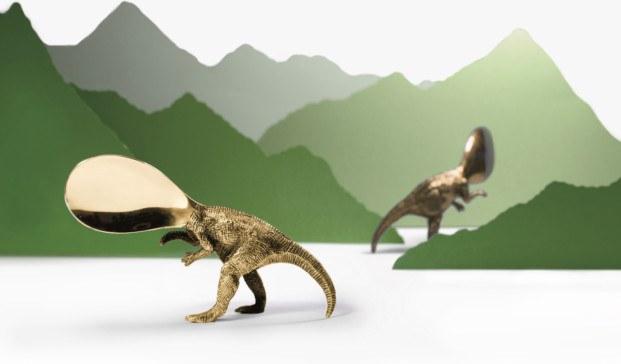 cuchara dinosaurio de laton coleccion wild ware andreu carulla celler can roca diariodesign