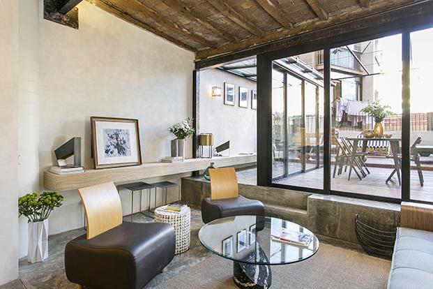 vivienda en Barcelona ABAG proyectoCB30 estar de estilo ecléctico diariodesign