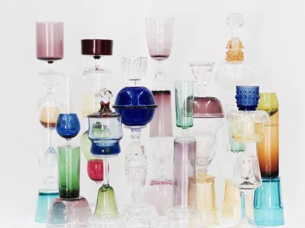 cristal en la exposición de las maravillosas esculturas de Yomuto diariodesign