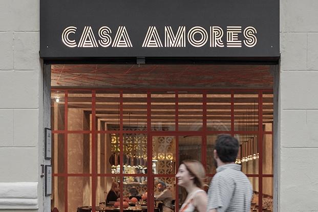 restaurante mexicano casa Amores en valencia entrada diariodesign