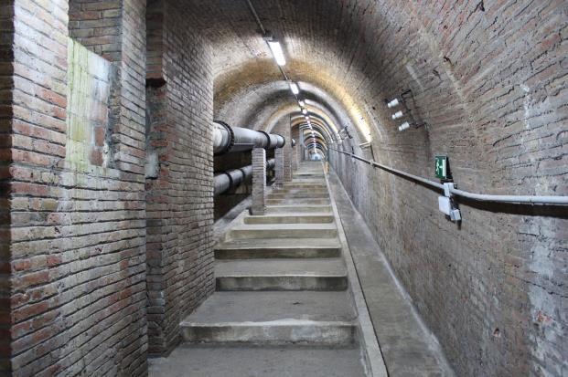 túnel subterráneo que conecta la Casa del Agua de Trinitat Vella diariodesign