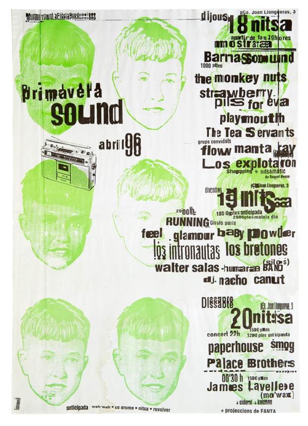 Cartel Primavera Sound 1996 Nitsa