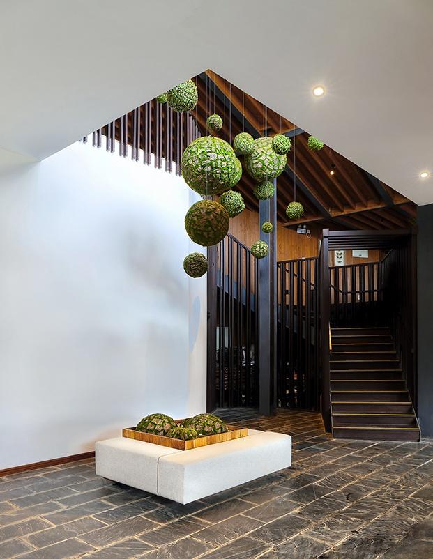 hotel en Yichang Three Gorges RV Park escalera diariodesign