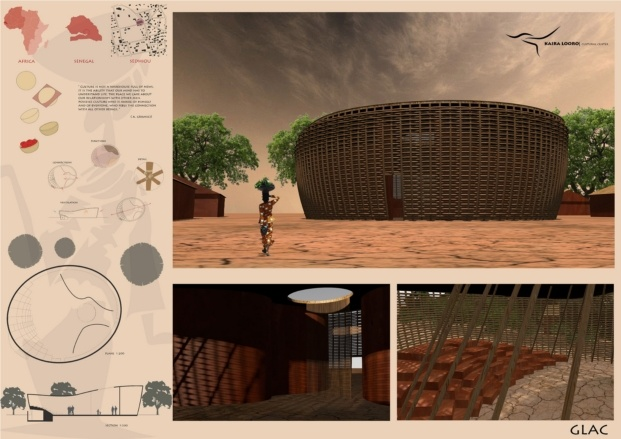 kaira looro competition for a cultural center diariodesign mencion honorable