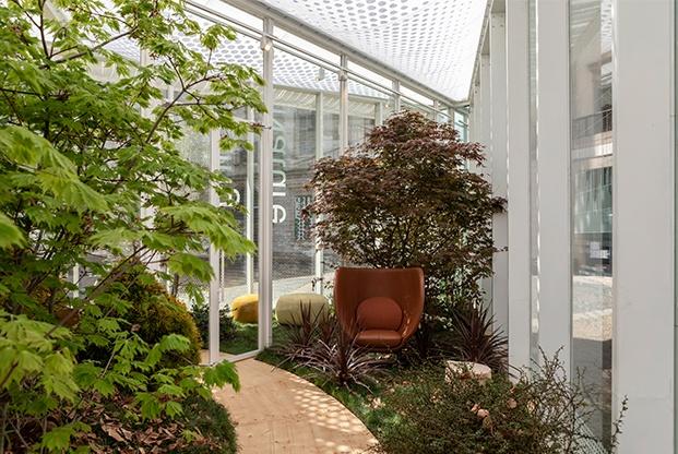 instalacion living nature en piazza duomo diariodesign