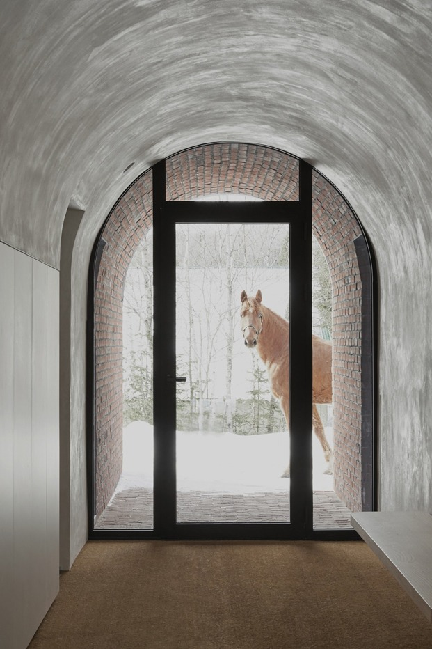 entrada casa quebec caballo diariodesign
