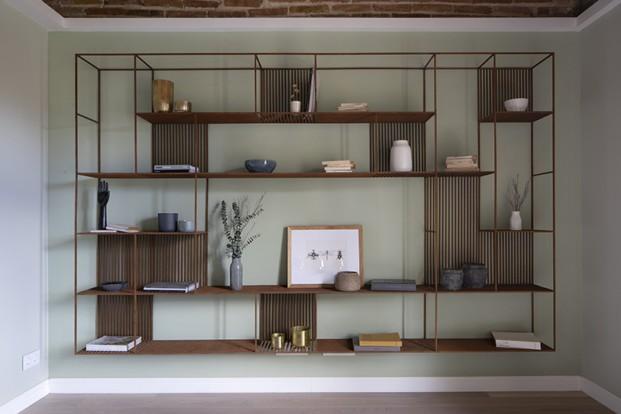 mueble oxido salon inspiración forestal diariodesign