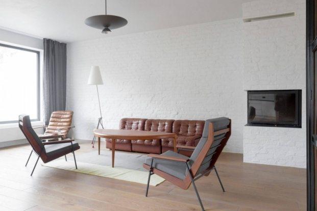 apartamento de estilo vintage en Szczecin, salón diariodesign