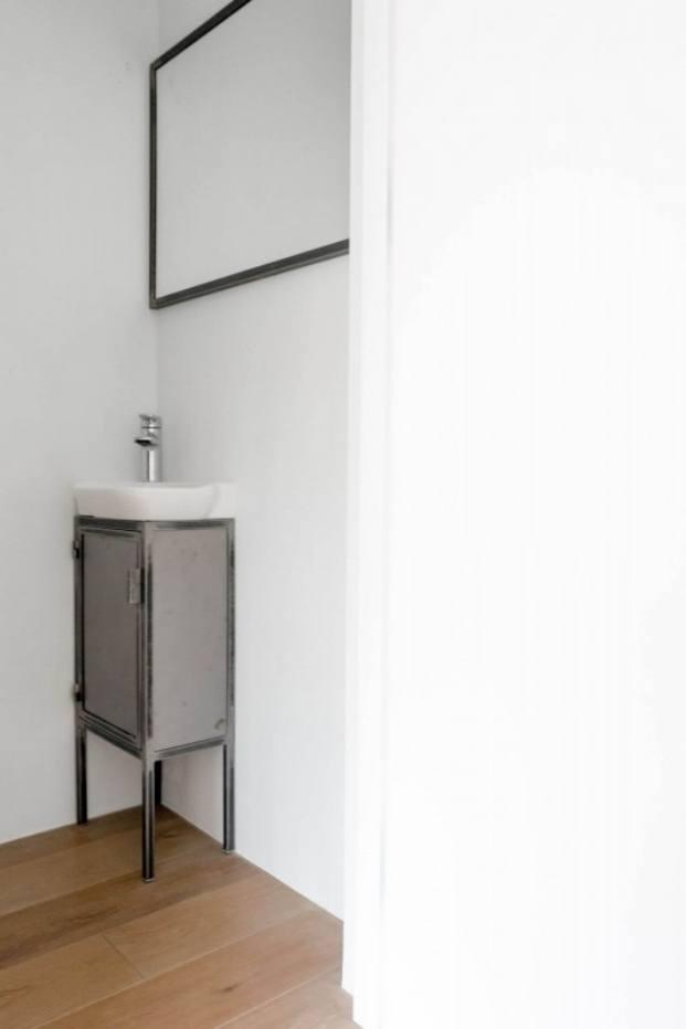 lavabo apartamento de estilo vintage en Szczecin diariodesign