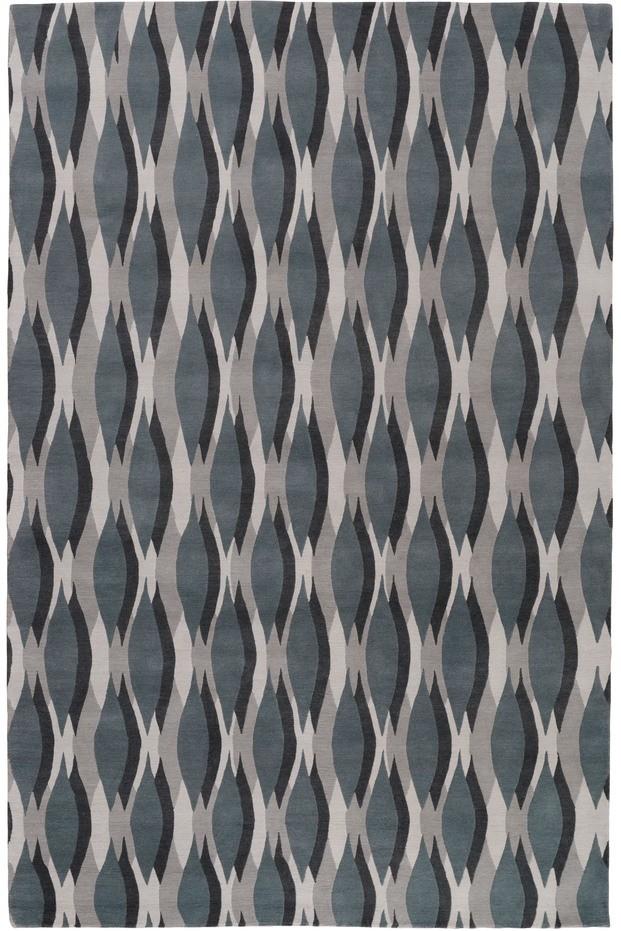 Alfombra olas azules de Allegra Hicks para The Rug Company diariodesign