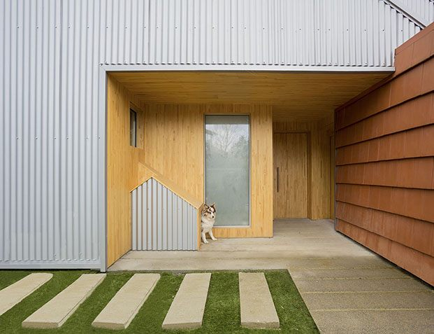entrada casa zumaia pura arquitectura diariodesign
