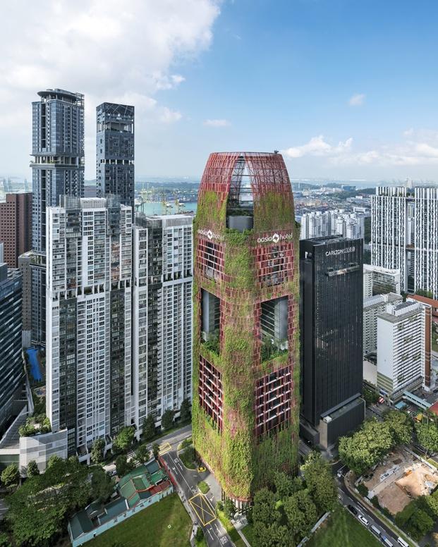 hotel oasia singapur rascacielos diariodesign